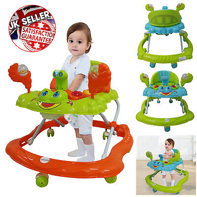 Baby Walker First Steps Push Along Bouncer Activity Music Ride On GO Car Melody