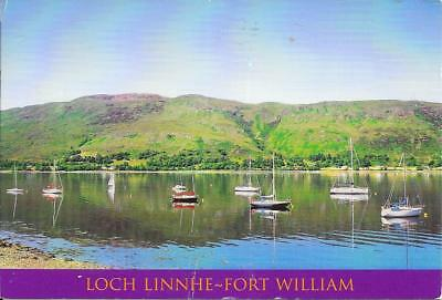 Loch Linnhe, Fort William - Posted Postcard