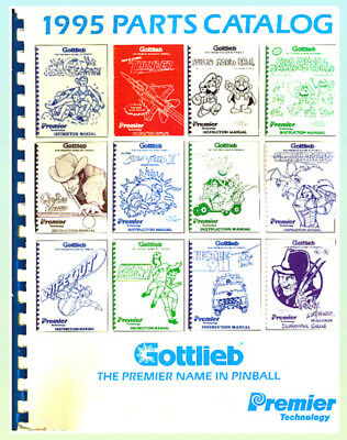 Gottlieb 1995 Pinball Parts Catalog ORIGINAL!