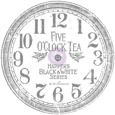 Iron Orchid Designs Decor Transfer Rub-ons-clock, 12""