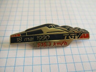 PINS TGV 18 MAI 1990 TRAIN SNCF VINTAGE PIN'S wxc z*2