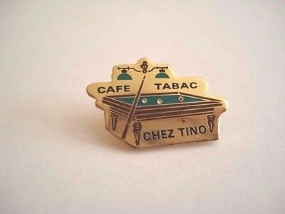 PINS RARE VINTAGE BILLARD CAFE TABAC CHEZ TINO GAMES BILLIARDS wxc 33