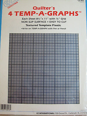 ez quilting 4pak quilters plastic template 85x11 with 14 inch grid new sealed