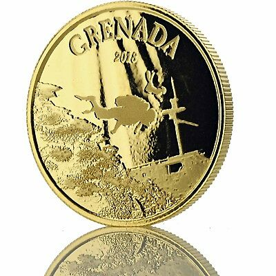 2018 1 oz Grenada .9999 Gold Coin BU in Certi-Lock #A467