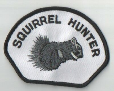 Squirrel Hunter Embroidered Iron/sew On Patch New