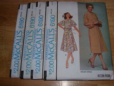 NEW-OLD STOCK-UNCIRCULATED 1978  McCALL/'S #6124 LADIES SEWING PATTERN  8-16 FF