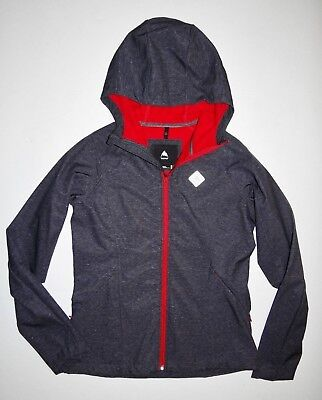 New Burton Womens Webb Dryride Fleece Softshell Hooded Jacket Medium