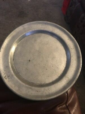 Antique Pewter Plate, 18th Century, Markers Mark, Primitive, 7 Inch