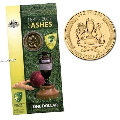 **2007 Australian The Ashes  $1 coin UNC **