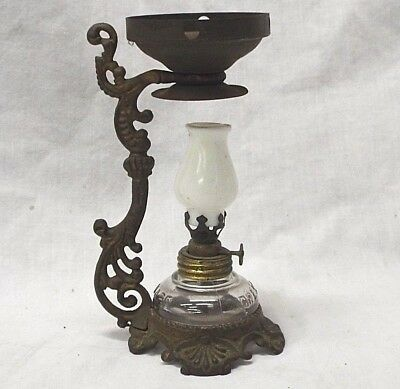 Antique 1880's Miniature VAPO-CRESOLENE Vaporizer MEDICINAL KEROSENE OIL LAMP