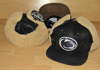 best website 4cf0c fadca Penn State Nittany Lions Woodsman Dog Eared Sherpa Fitted Hat Cap Size 7 5 8
