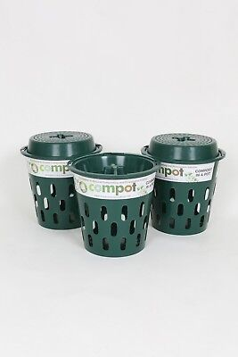 Compost Bins/Composters Direct Compost Solutions Green Compot & Lid x 3