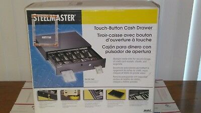 SteelMaster 225106001 Alarm Alert Steel Cash Drawer w/Key & Push-Button Release