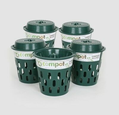 Compost Bins/Composters Direct Compost Solutions Green Compot & Lid x 5