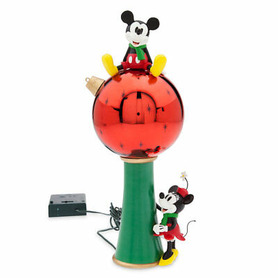 DISNEY STORE MICKEY and MINNIE MOUSE Light Up TREE TOPPER New In Box