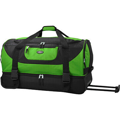 "Travelers Club Luggage 30"" Adventure Double Compartment Rolling Duffel NEW"