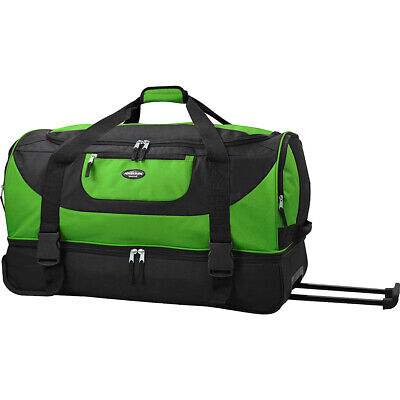 """Travelers Club Luggage 30"""" Adventure Double Compartment Travel Duffel NEW"""