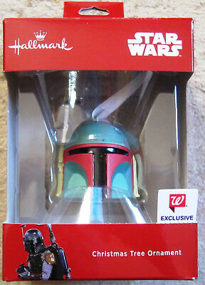 Hallmark Walgreen's Exclusive Star Wars Boba Fett Helmet ornament- Mint in Box !