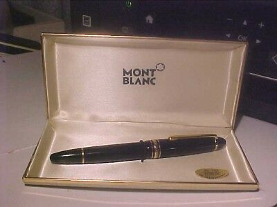 Authentic Montblanc # 146 Fountain Pen w/ 14K Nib In Original Box With Papers