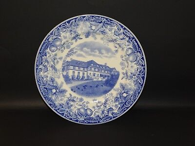 Wedgwood Blue White 1929 Vassar College Plate Alumnae House 10.25""