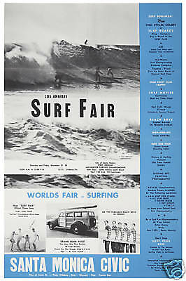 Surf: The Beach Boys at the Surf Fair in Santa Monica Concert Event Poster 1963