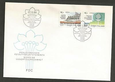 FINLAND -1986 Friendship towns in scandinavia   - FIRST DAY COVER.