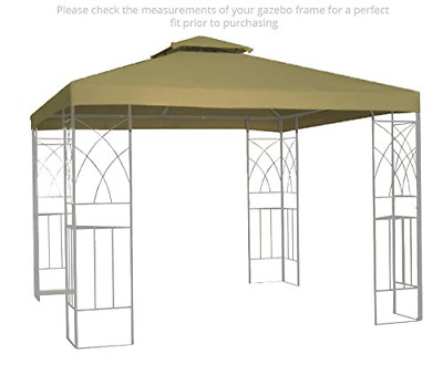 Kenley 2-Tier 10x10 Replacement Gazebo Canopy Awning Roof Top Cover - Waterproof