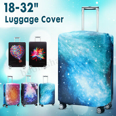 "18-32"" Travel Luggage Suitcase Cover Protector Elastic Dust Proof Case Cover AU"