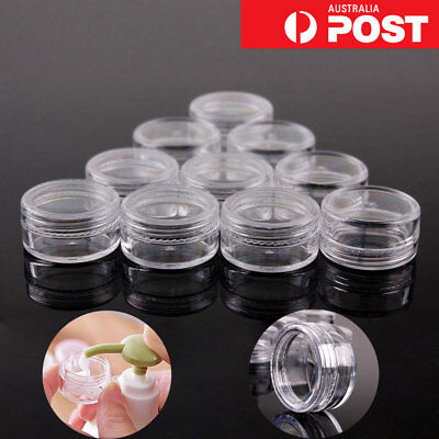 3/5/10/20g Sample Cosmetic Makeup Jars Pot Face Cream Lip Balms Container AU CLG