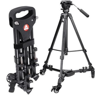 Kingjoy VX-600 Foldable Tripod Dolly 3 Wheels Stand Pulley Base for DSLR Camera