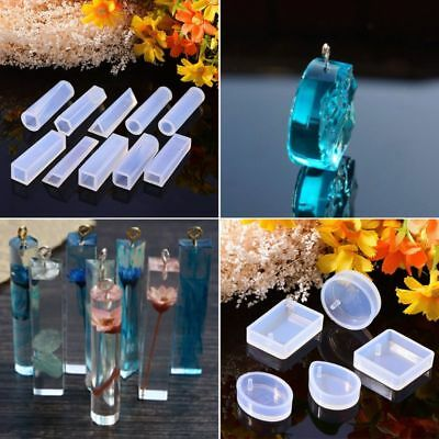 1 Set Silicone Molds Kit Epoxy Resin DIY Jewelry Making Clasp Pins Crafts Tools