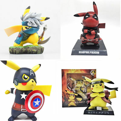 Pokemons Detective Pikachu Deadpool Naruto The Flash Cosplay PVC Figure Toys CLG