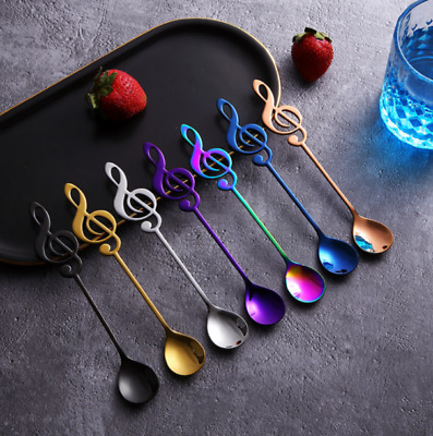 Stainless steel musical note dessert spoon coffee tea coffee spoon tableware