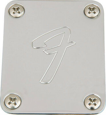 F NECKPLATE FOR FENDER STRAT TELE MUSTANG P-BASS Jazz Neck Plate