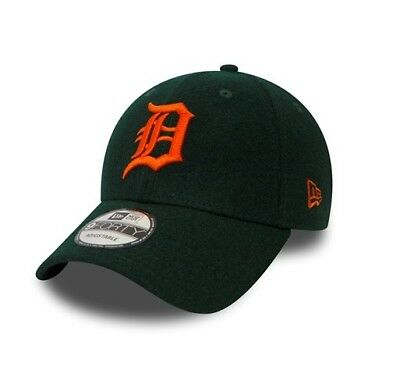 New Era 9FORTY MLB Detroit Tigers Winter Utility Melton Green Curved Peak  Cap 4793c2e6fc56