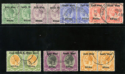 South West Africa 1923 KGV short set to 1s very fine used. SG 1-7. Sc 1-7.