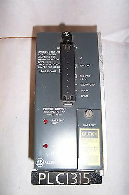 Allen Bradley 1771-PA Power Supply Module Ser B 120/220VAC (PLC1315)