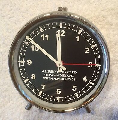 Vintage -  'a.t. Speedometer Co.ltd' Alarm Clock - Working And Vgc.