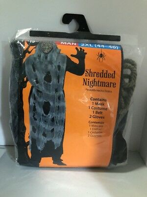 HALLOWEEN COSTUME Shredded Nightmare Zombie Adult 2XL XXL 44-46 Scary Ghoul NEW!