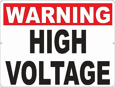 Warning High Voltage Sign. Size Options. Workplace Safety Shock Hazard Electric
