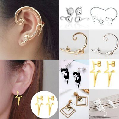 Fashion Cute Clip Ear Cuff Stud Women's Punk Wrap Cartilage Earrings Jewelry
