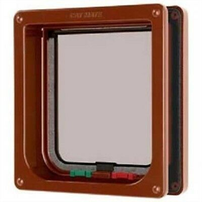 Pet Mate Cat Flap 4 Way Locking With Liner Brown 235B