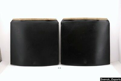MERCEDES R107 SL 84-89 BLACK Seat Back Rear Panel Covers PAIR *Solid* Original