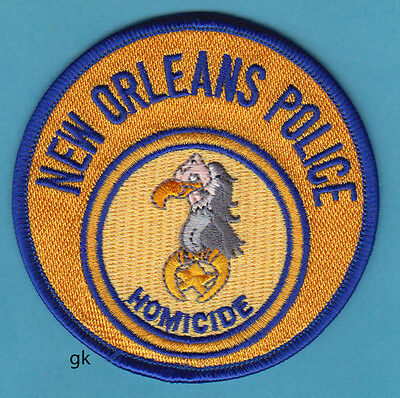 New Orleans Louisiana Homicide Police Patch