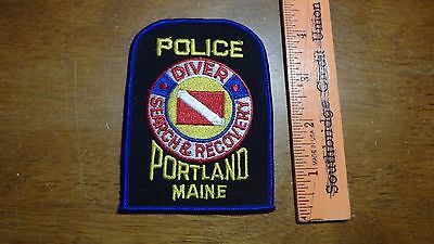 Portland Maine Police Diver Search & Recovery  Obsolete Shoulder Patch   Bx K#20