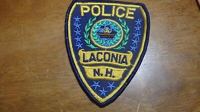 1950's  Laconia New Hampshire Police Department Patch Not Current Patch   Bx E 8