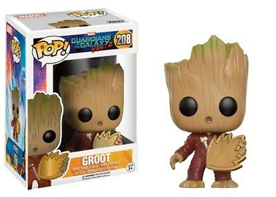 GUARDIANS OF THE GALAXY 2 Figurine BABY GROOT SHIELD EXCLUSIVE N° 208  FUNKO POP