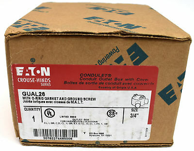"""Eaton Crouse-Hinds Series GUAL26 - 3/4"""" Gual Conduit Outlet Box"""