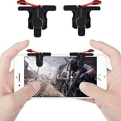 Qoosea Smartphone Triggers Gamepad L1 R1 Sensitive Shoot Aim Joystic for PUBG...