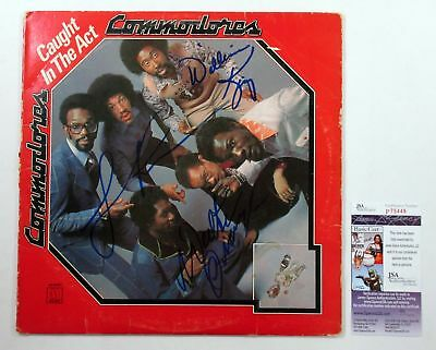 Lionel Richie & 2 Other Signed Album Commodores Caught in the Act 3 JSA AUTOS
